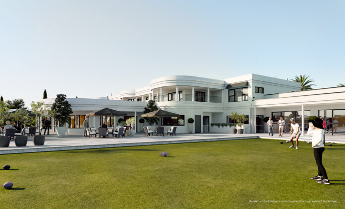 The Vines Clubhouse proposed bowling green